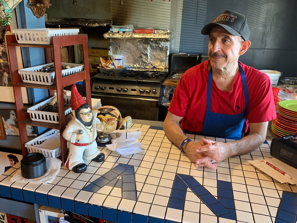 Nick's Cafe owner Nick Andurlakis says his business near the Denver Federal Center has dropped about 20 percent since the partial government shutdown began. He thinks the decrease is due to a combination of the shutdown and the holidays. (Dan Boyce/NPR)