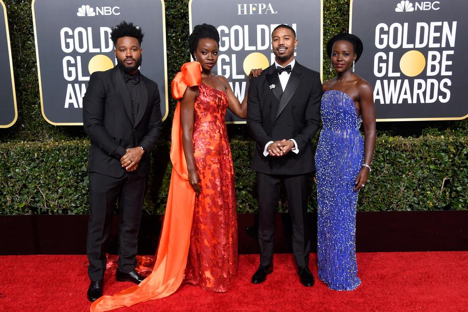 Left to right: Ryan Coogler, Danai Gurira, Michael B. Jordan, and Lupita Nyong'o (Frazer Harrison/Getty Images)