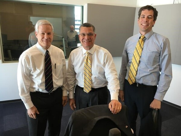 (From left) Republican state Sen. Rob Schaaf, former Republican state Sen. Jim Lembke and Sean Soendker Nicholson. Schaaf and Lembke backed the so-called Clean Missouri amendment, while Nicholson ran the successful campaign to get it approved last fall.