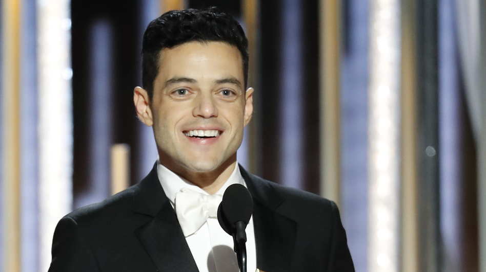 Rami Malek won a Golden Globe for his performance in the drama <em>Bohemian Rhapsody</em>, in which he played iconic singer Freddie Mercury. (Paul Drinkwater/NBCUniversal via Getty Images)