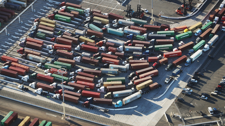 As the economy boomed, emissions rose sharply in 2018. Shipping was one source of the increase. (Mario Tama/Getty Images)