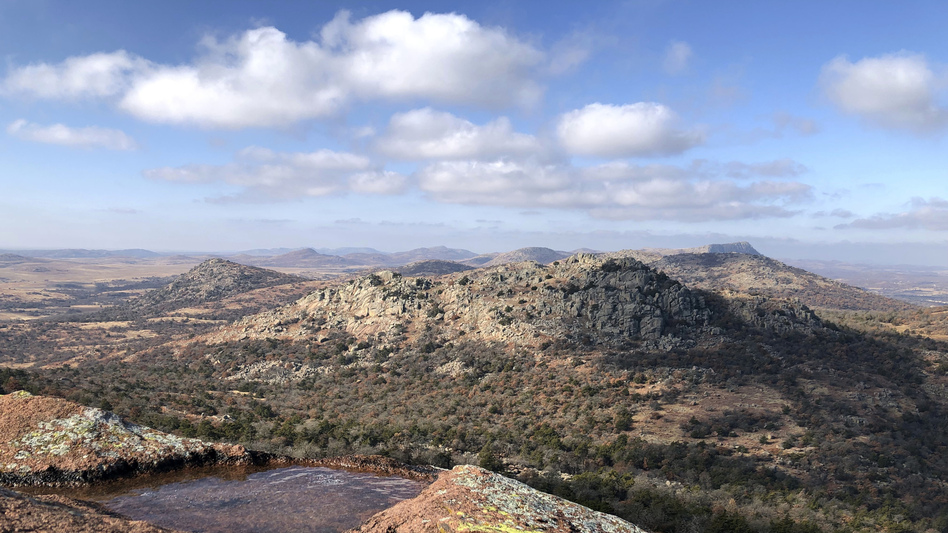 The U.S. Fish and Wildlife Service is bringing staff back to keep open dozens of wildlife refuges including Wichita Mountains Wildlife Refuge in Comanche County, Okla., despite the government shutdown. (Adam Kealoha Causey/AP)