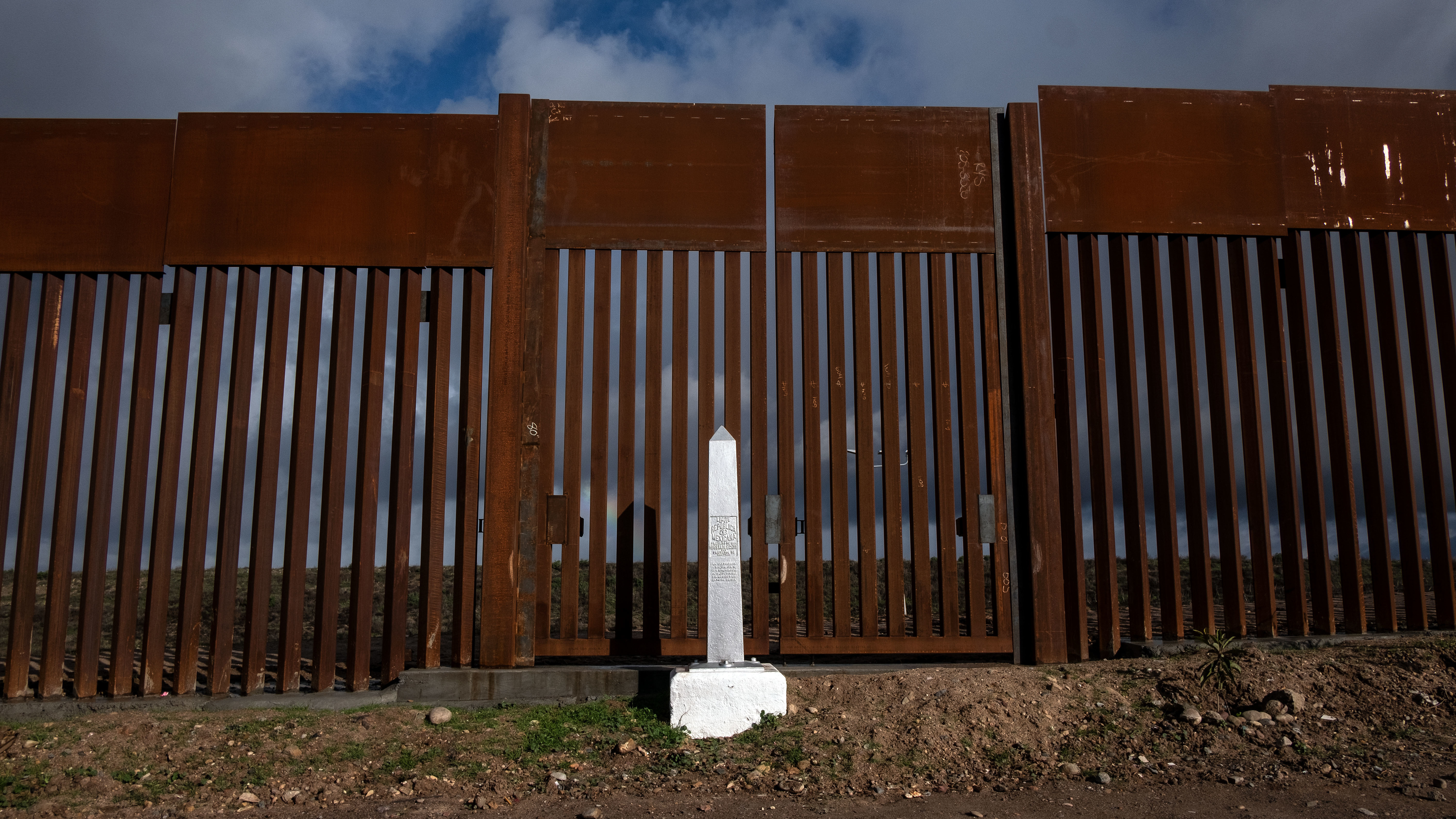 A section of the reinforced U.S.-Mexico border fence in the Otay Mesa area, San Diego County, is seen from Tijuana in Mexico. President Trump says he may declare a national emergency to bypass Congress and build a border wall.