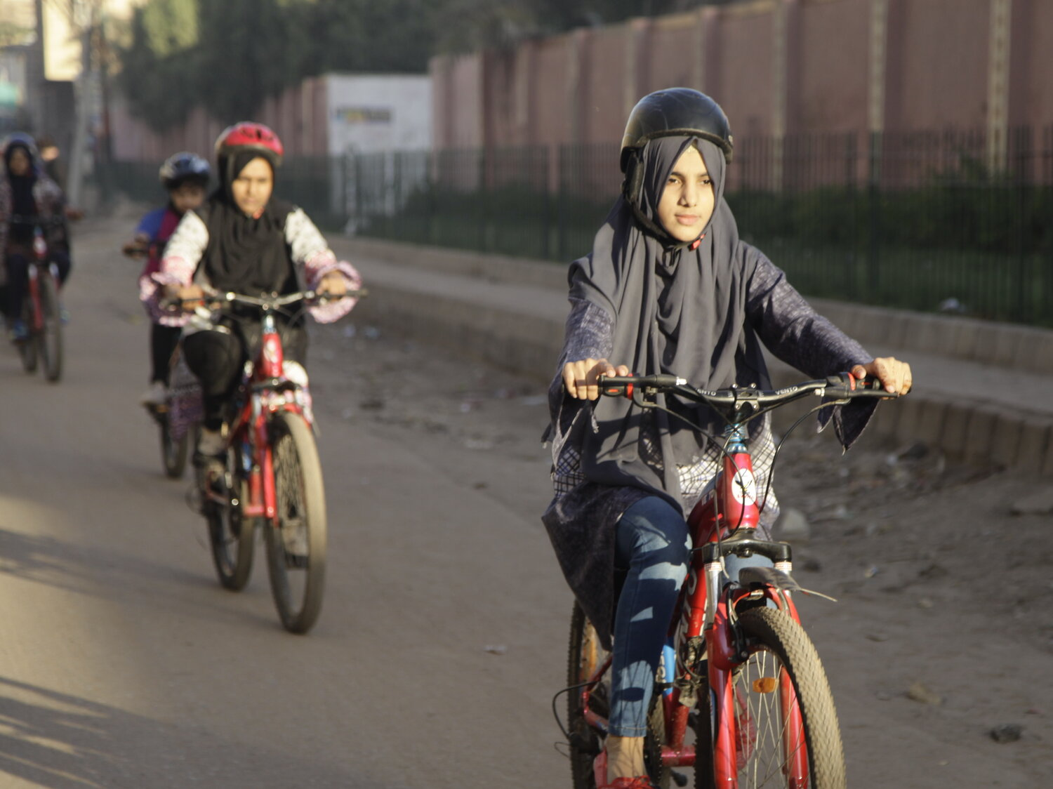 Women and bicycles in Pakistan for International Women's Day