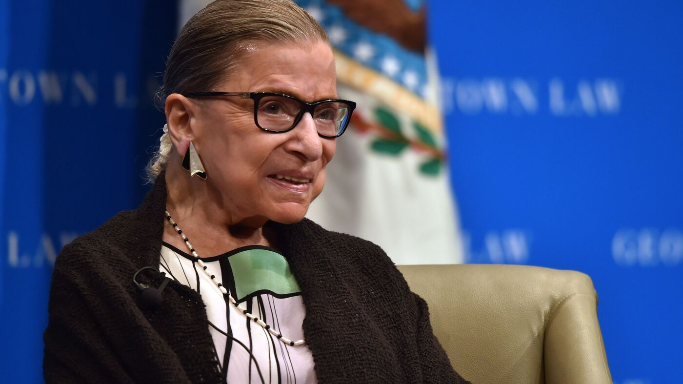 Justice Ruth Bader Ginsburg Has No Remaining Signs Of Cancer : NPR
