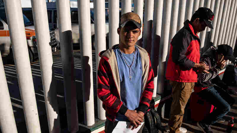 A Waiting Game For Immigrants And Border Agents On 2 Sides Of The Wall