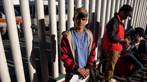 A Waiting Game For Immigrants And Border Agents On 2 Sides Of The Border Wall