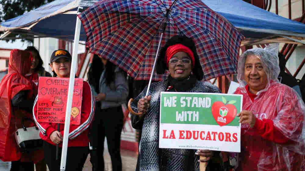 Los Angeles Teachers Strike For Smaller Classes, More Nurses And Librarians