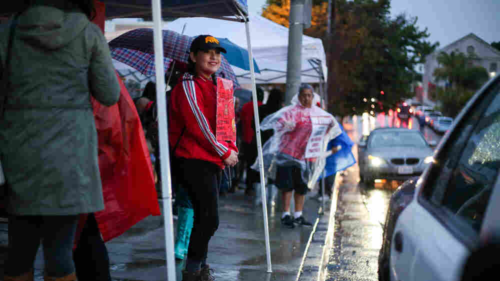 Under Rainy Skies, Los Angeles Teachers Take To The Picket Lines