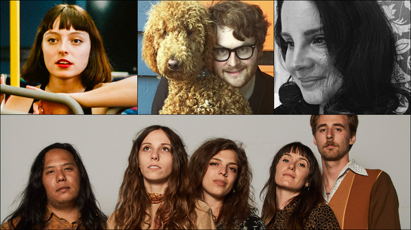 Clockwise from upper left: Stella Donnelly, Telekinesis, Lana Del Rey, The Wild Reeds
