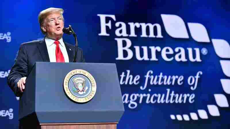 In Speech To Struggling Farmers, President Trump Promotes Border Wall
