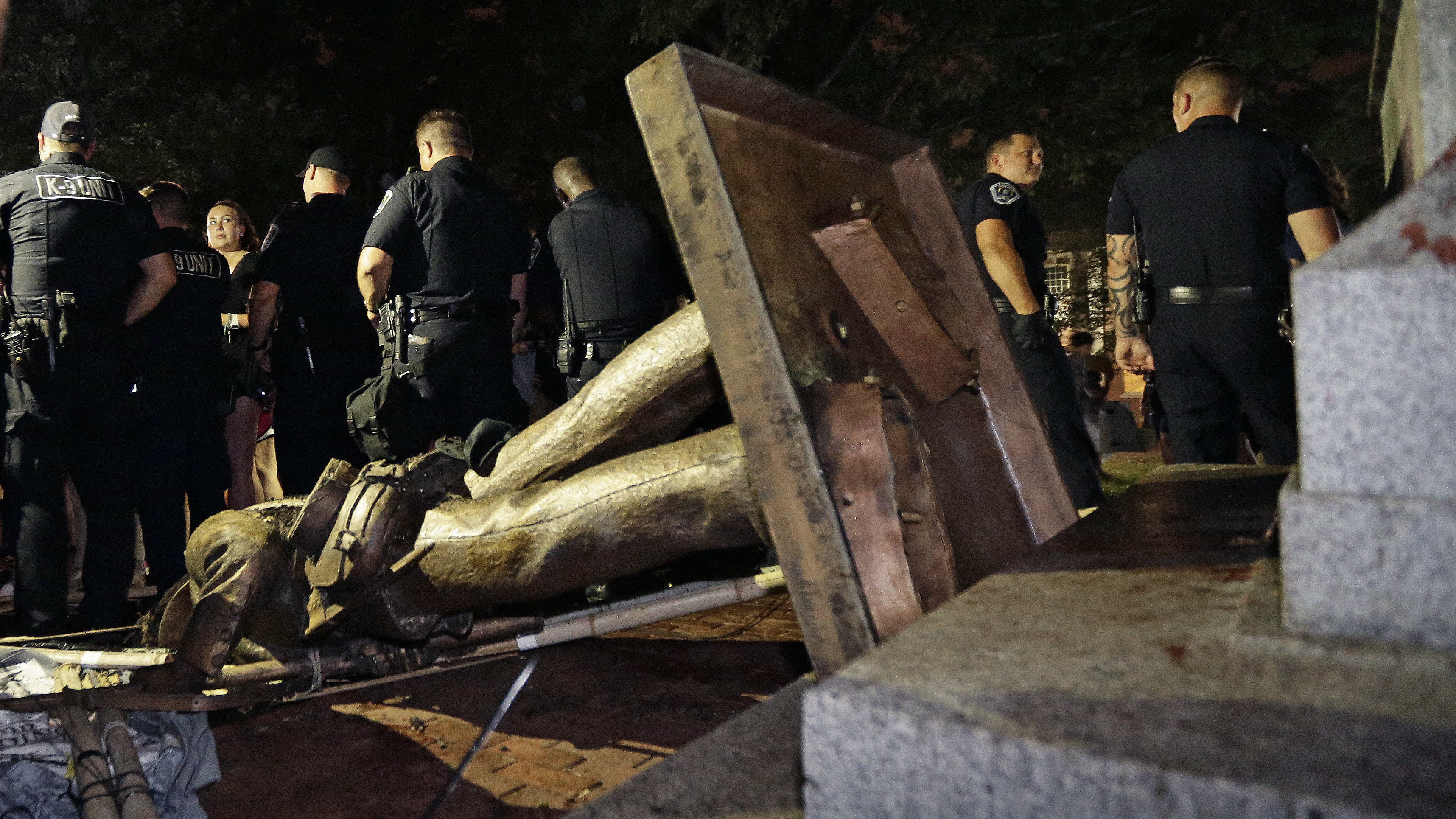 On Her Way Out, UNC Chancellor Orders Removal Of 'Silent Sam' Pedestal
