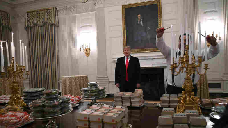 Feast Fit For A Burger King: Trump Serves Fast Food To College Football Champs
