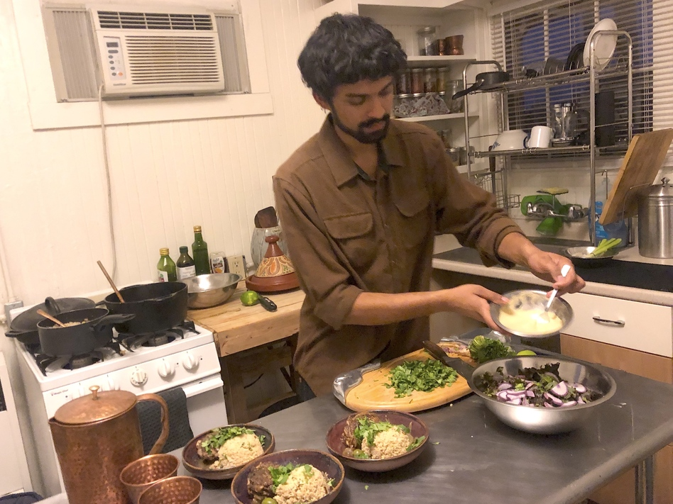 California home cooks like Akshay Prabhu are excited about the prospect of selling food from their kitchens to supplement their incomes. (Ezra David Romero/Capital Public Radio)