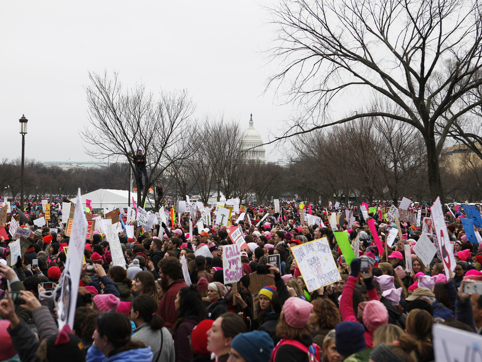The Women's March brought together more than 400,000 protesters in Washington, D.C., and sparked more than 600 sister marches worldwide on Jan. 21 (Meg Kelly)