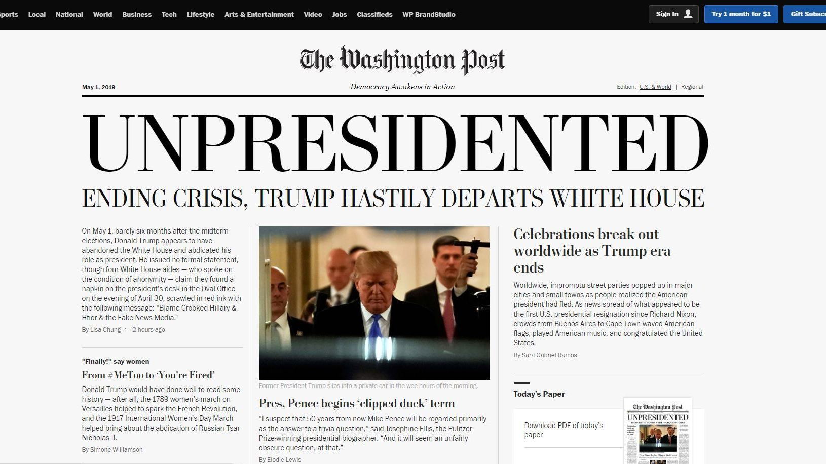 npr.org - Ian Stewart - Real Fake News: Activists Circulate Counterfeit Editions Of 'The Washington Post