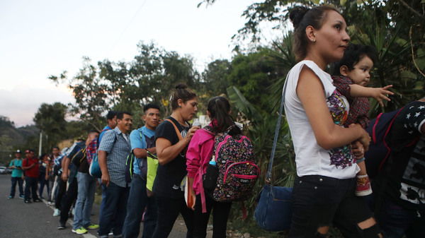Honduran Caravan Crosses Guatemala On Its Way To U.S.