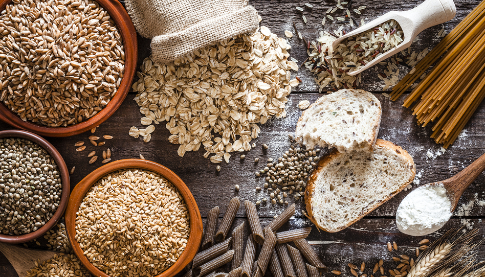 Slow carbs like whole-grain breads and pastas, oats and brown rice are rich in fiber and take more time to digest, so they don't lead to the same quick rise in blood sugar that refined carbs can cause. (fcafotodigital/Getty Images)