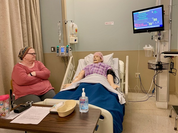Belmont University's nursing program started hiring actors like Vickie James to help with their end-of-life simulations for students.