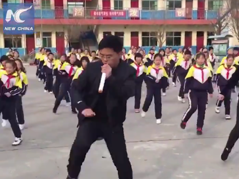 WATCH: In China, School Principal Leads Students In Dancing To A New Beat