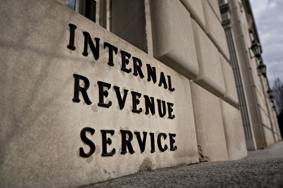 Tax season is more stressful this year for filers and IRS workers alike, because of new tax law changes and the partial government shutdown that has left the agency with roughly half its normal staff. (Andrew Harrer/Bloomberg via Getty Images)