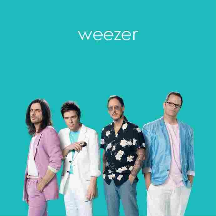 "Cover for Weezer's self-titled ""Teal"" album."