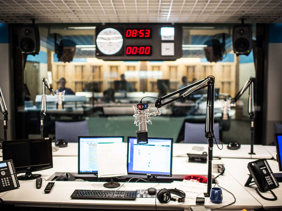 Scenes from Weekend Edition Saturday, the first broadcast from the new NPR Headquarters in Washington, DC on April 13, 2013.
