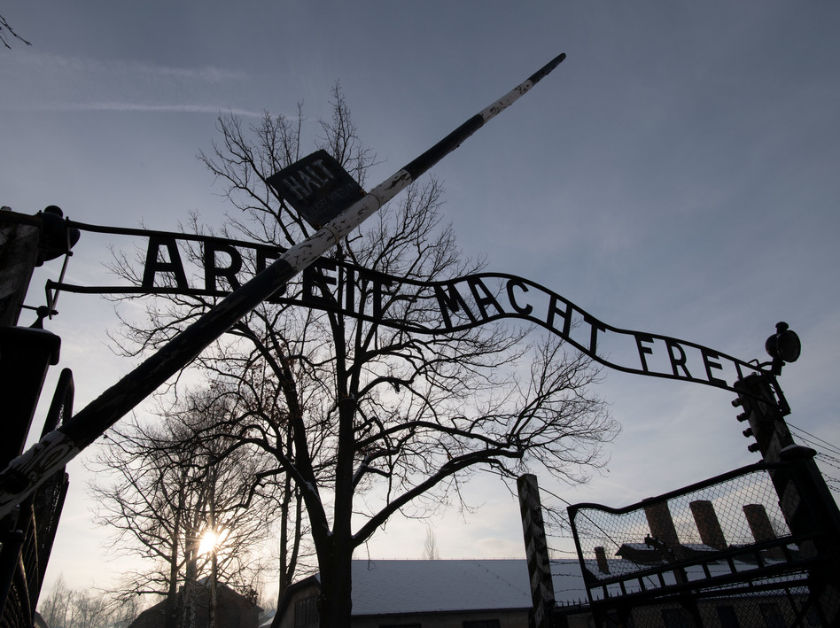 Holocaust survivors visited the former Auschwitz concentration camp on International Holocaust Remembrance Day. (Bernd Thissen/Picture Alliance via Getty Image)