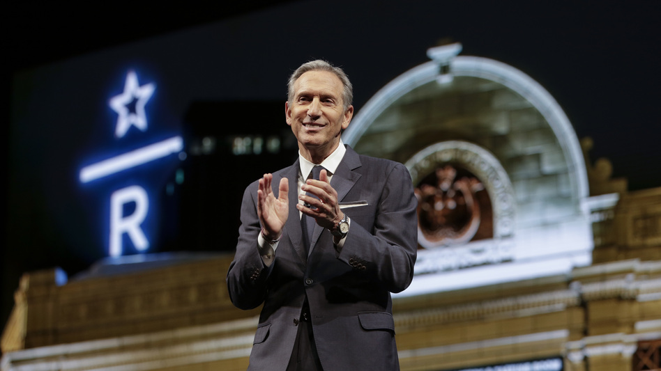 Potential candidate Howard Schultz said he wants nothing more than for President Trump to be defeated, but he fears Democrats will nominate someone too far to the left. (Jason Redmond/AFP/Getty Images)