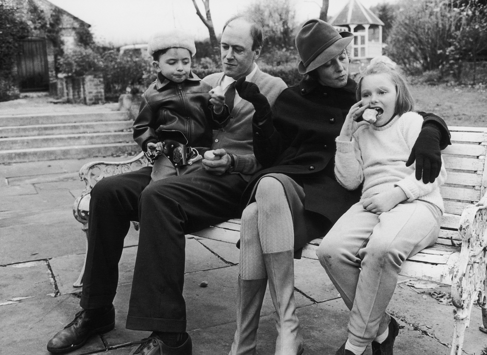 "Writer Roald Dahl and his wife, actress Patricia Neal, with two of their children, Theo and Chantel Sophia ""Tessa."" The photo was taken a few years after oldest daughter, Olivia, died of measles. (Hulton Archive/Getty Images)"