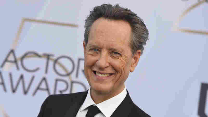 Richard E. Grant arrives at the Screen Actors Guild Awards on Jan. 27, 2019, in Los Angeles.