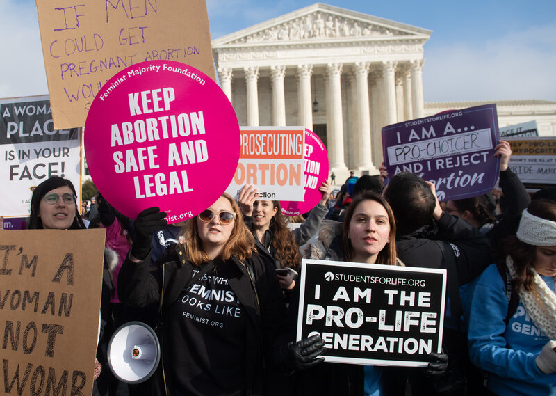 Supreme Court Stays Louisiana Abortion Law With Roberts Joining Liberals : NPR