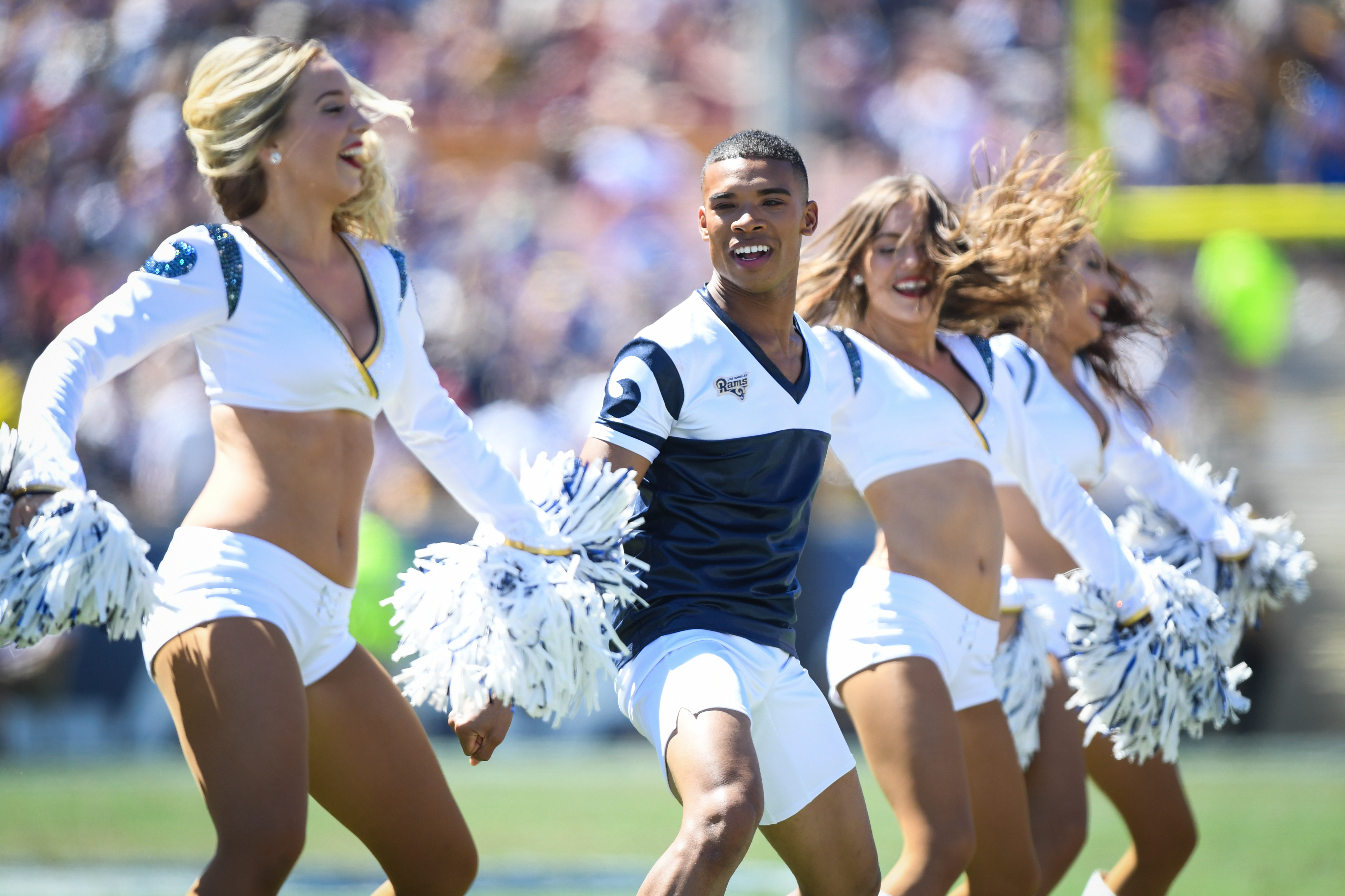 2 NFL Male LA Rams Cheerleaders Will Make Football History In Super Bowl  Game : NPR