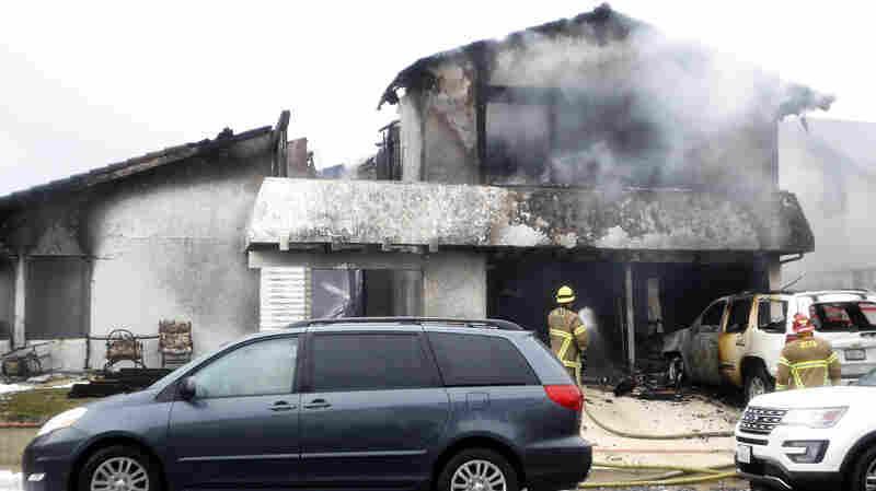 5 Die As Plane Breaks Apart, Crashes Into Neighborhood In Southern California