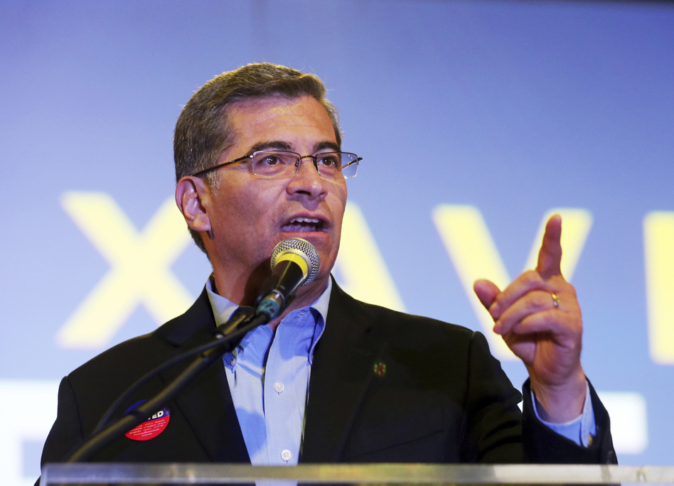 California Attorney General Xavier Becerra was tapped to give the Spanish language response to the president's State of the Union address by top congressional Democratic leaders. (Reed Saxon/AP)