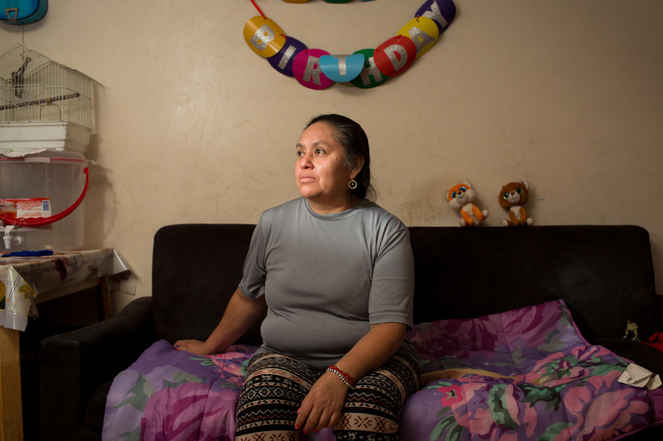 Chicago resident Domitila Valerio started noticing her bill increasing in 2018. When the bills escalated to more than $700, she couldn't afford to pay. (Michelle Kanaar for APM Reports)