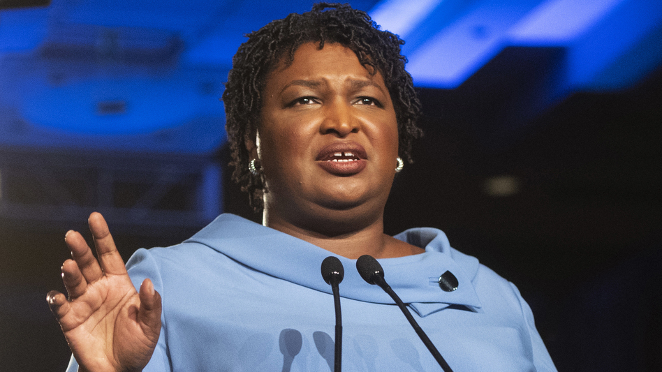 In mentioning voting in her Democratic response to the State of the Union, Stacey Abrams (pictured on election night in 2018) voiced what was already becoming increasingly clear: Elections will be a key part of Democratic messaging in the coming years. (John Amis/AP)