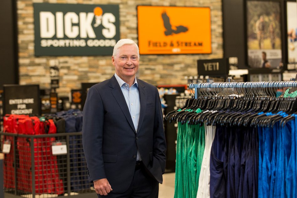 After his company's response to the Parkland shooting, Dick's Sporting Goods CEO Ed Stack became an unlikely corporate face of gun control. (Scott Dalton/Invision for DICK'S Sporting Goods/AP Images)
