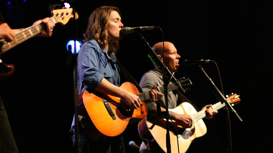 Brandi Carlile performs a live World Cafe Session at World Cafe Live in Philadelphia. (Liz Waldie/WXPN)