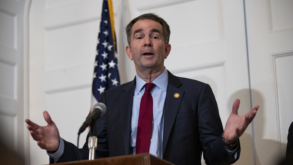 Virginia Gov. Ralph Northam speaks at a news conference at the governor's mansion earlier this month in Richmond. (Alex Edelman/Getty Images)