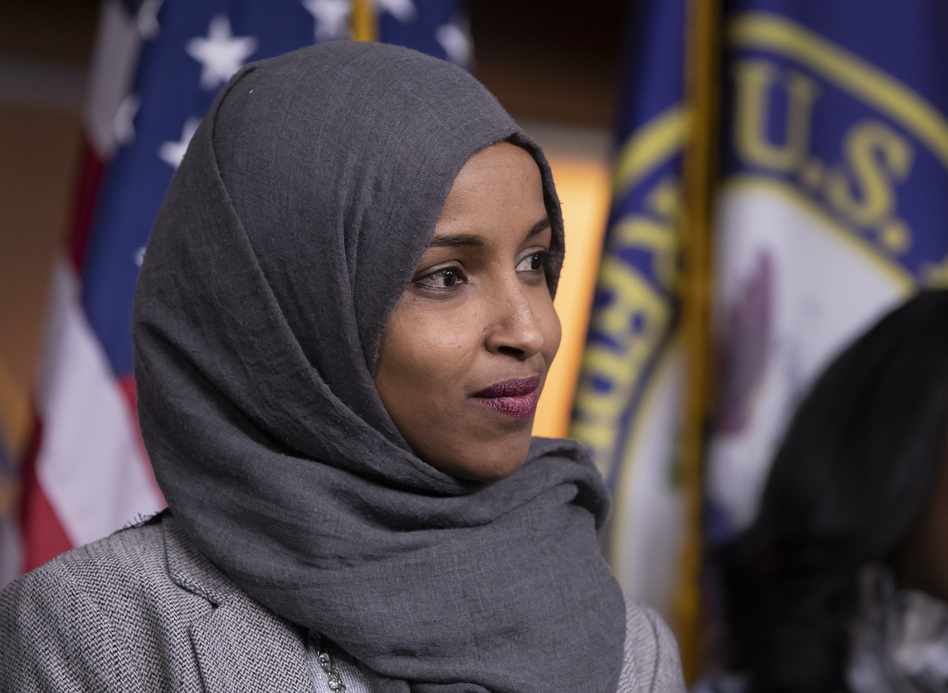 "Rep. Ilhan Omar, D-Minn., apologized for comments on social media widely condemned as anti-Semitic. House Democratic leaders called the remarks ""deeply offensive."" (J. Scott Applewhite/AP)"