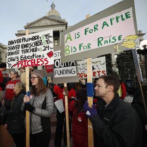 Denver Teachers Strike Over Base Pay