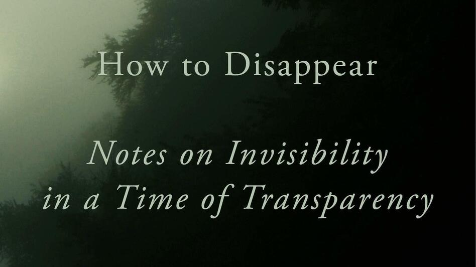 <em>How To Disappear: Notes on Invisibility in a Time of Transparency</em> by Akiko Busch