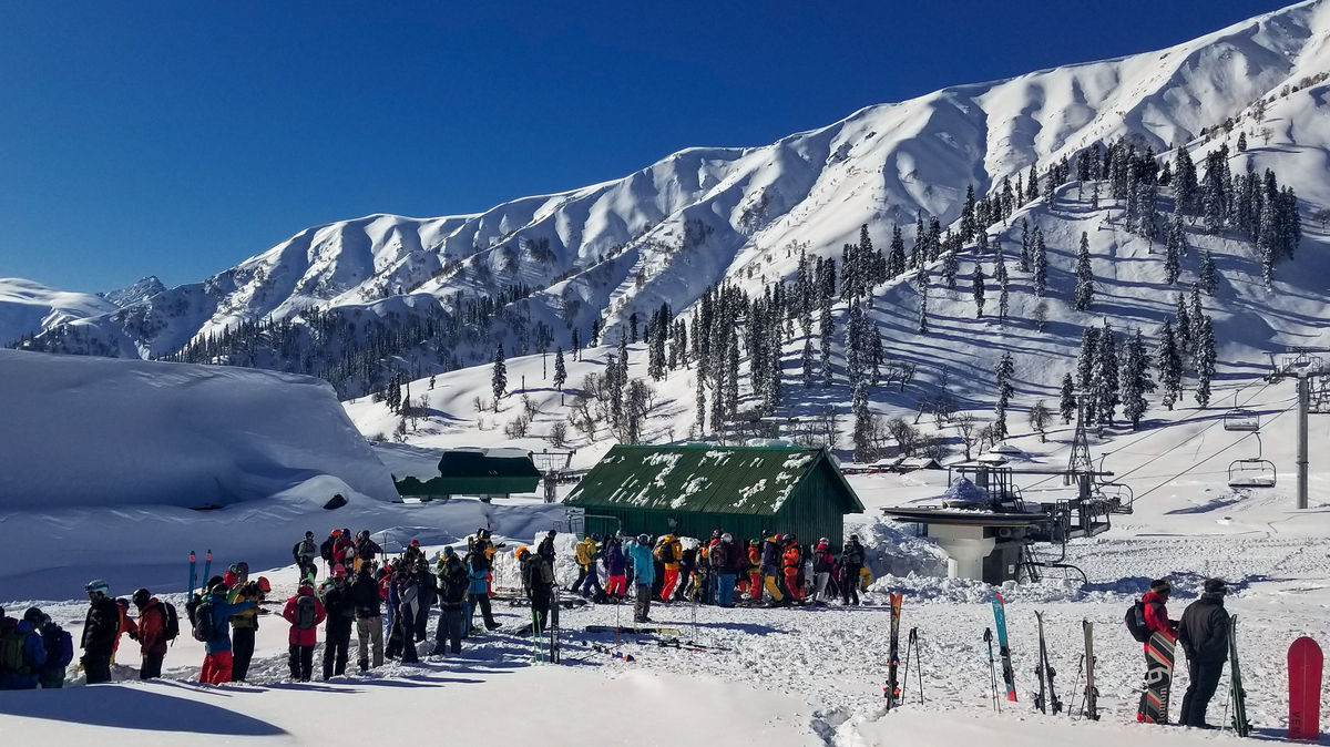 Surrounded By Military Barracks Skiers Shred The