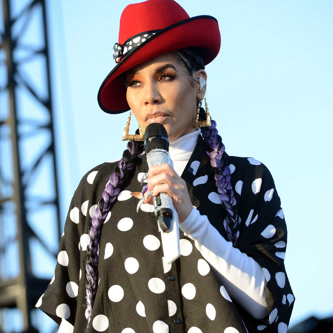 Singer Ivy Queen performs onstage during the Tropicalia Music and Taco Festival at Queen Mary Events Park on November 11, 2017 in Long Beach, California. (Photo by Scott Dudelson/Getty Images)