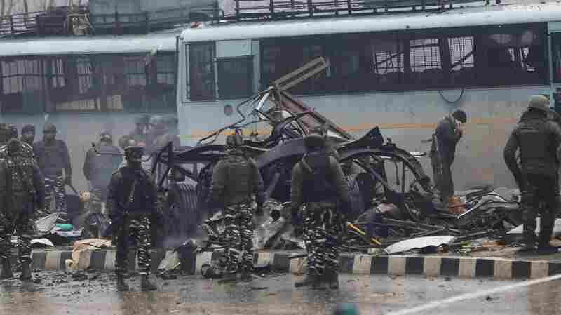 Car Bomber Kills 44 Police Troops In Indian-Controlled Kashmir