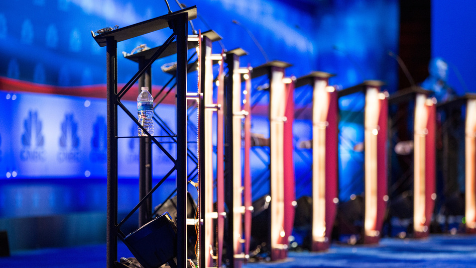 With a large field of candidates expected, the Democratic National Committee is laying out how it will accommodate candidates for presidential debates. (Andrew Burton/Getty Images)