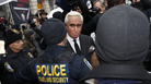 Roger Stone leaves federal court on Feb. 1. The judge in his case has imposed a gag order on attorneys and others.