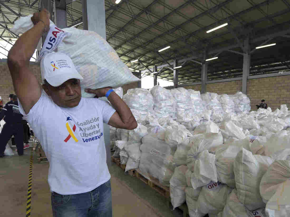 US aid lands in Colombia in effort to deliver supplies to Venezuela
