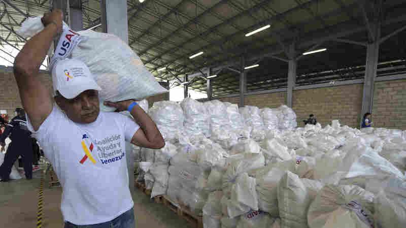 U.S. Masses Aid Along Venezuelan Border As Some Humanitarian Groups Warn Of Risks